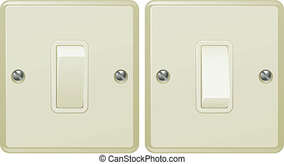Light switch illustration - Illustrations of a light switch...