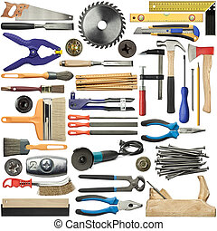 Tools for wood, metal and other construction work