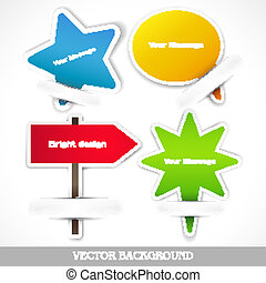 Set of vector paper icons