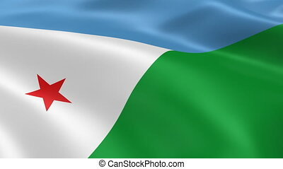 Djiboutian flag in the wind