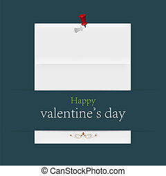 valentine's day page. vector illustration