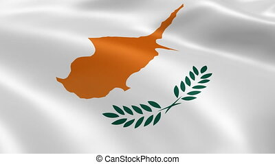 Cypriot flag in the wind. Part of a series.