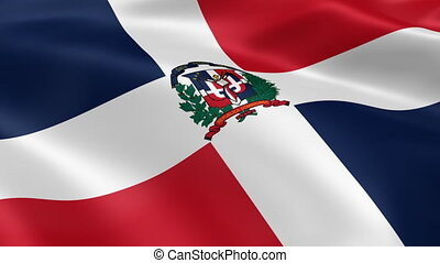 Dominican Republic flag in the wind Part of a series