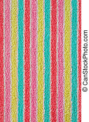 Bath Towel Texture - Colorful bath towel with vertical...