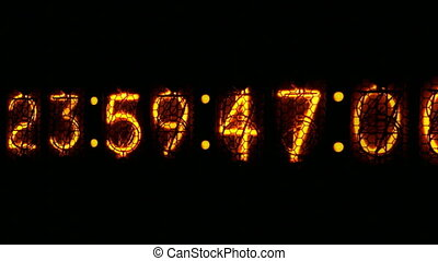 Nixie digital clock D1 - Digital clock countdown to midnight