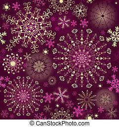 Christmas purple seamless pattern