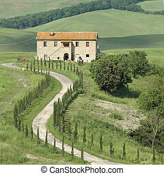farm in Tuscany, Italy
