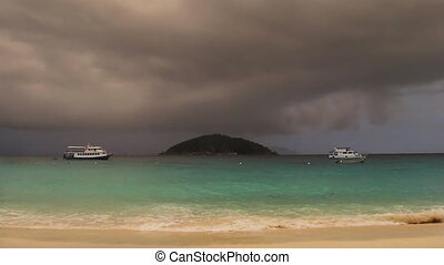 storm  - gale on the tropical island