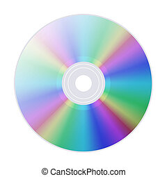 CD (DVD) isolated on white