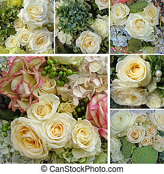 rose collage - wedding bouquets collage