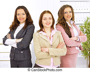Young business women in modern office