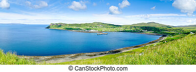 Harbour of Idrigill and Uig, Isle of Skye - View on Loch...