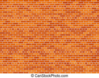 brick wall  - illustration of a red brick wall background