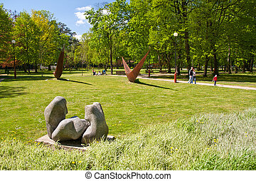 Sopot park - park in spa resort Sopot, Poland
