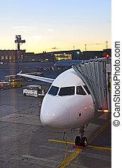 Airplane preparing to flight  - Airplane preparing to flight