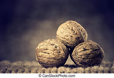 Walnuts - Whole solid walnuts at vintage ropes