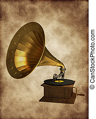 Golden gramophone