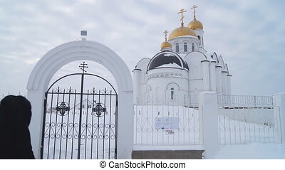 Russian Orthodox Church Golden domes
