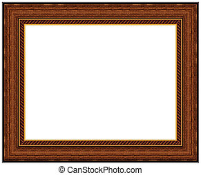 Picture frame - Wood picture frame with a decorative pattern