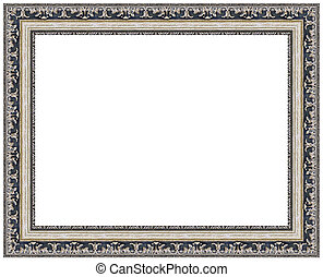 Picture frame - Picture silver frame with a decorative...