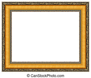 Picture frame - Picture gold frame with a decorative pattern