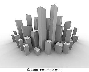 abstract buildings design of a metropolitan area