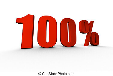 percentage tag in 3d isolated on white background