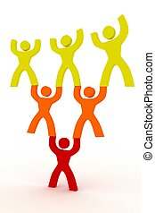 people helping each other symbol illustration