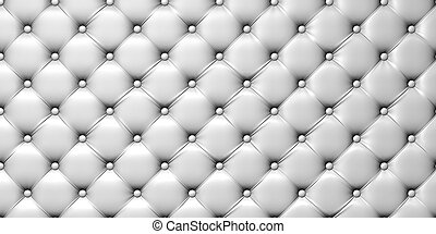 illustration of white  leather upholstery.  3d picture
