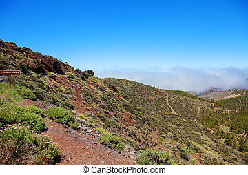 Road to El Teide volcano, Canaries, Tenerife.