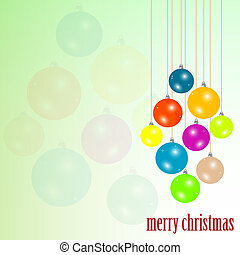 Christmas greeting card. new year background