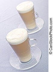 Two Cups of Latte on a table
