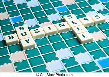 Business word made by letter pieces