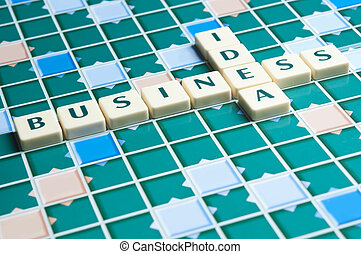 Business Idea word made by letter pieces