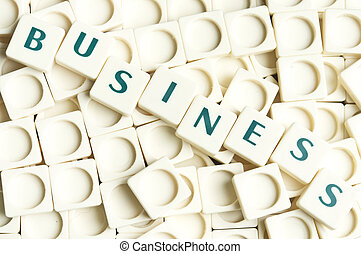 Business word made by leter pieces