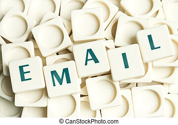 Email word made by leter pieces