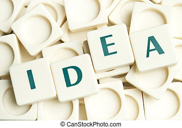 Idea word made by leter pieces