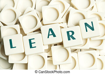 Learn word made by leter pieces