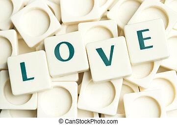 leter, Liebe, gemacht, Wort, Stücke