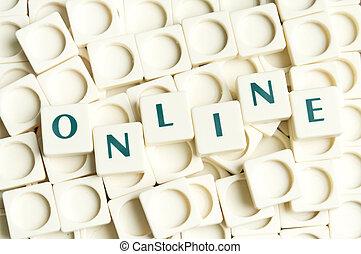 leter, Stücke, gemacht, Wort,  online
