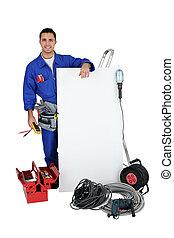 electricista, blanco, Plano de fondo