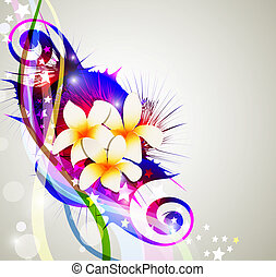 vector abstract background celebration, with flowers