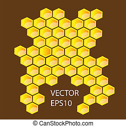 Vector honey combs background design elements