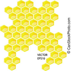 Vector honey combs background design elements isolated over...