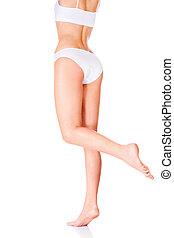 female body in underwear