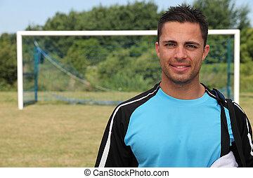 A goalkeeper.
