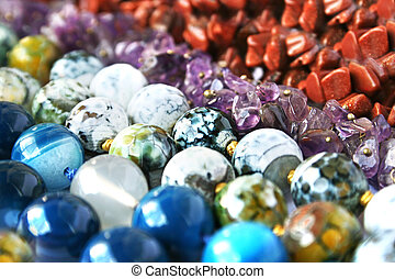 Necklaces - Colorful natural stones necklaces picture.