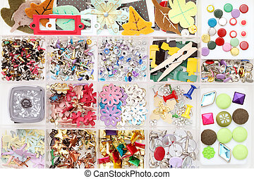 Craft materials in a box