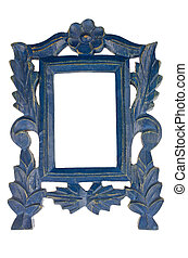 Empty Blue Picture Frame