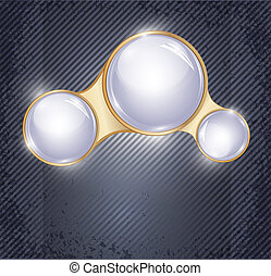 vector abstract background with three glass balls